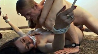 Bound, Foot gagging, Under table, Fuck foot, Foot gag, Under the table