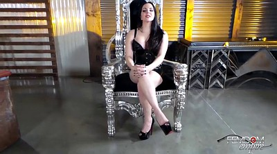 Interview, Bdsm casting, Snow, Latex domina