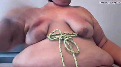 Glove, Gloved, Bbw bondage, Nipple play