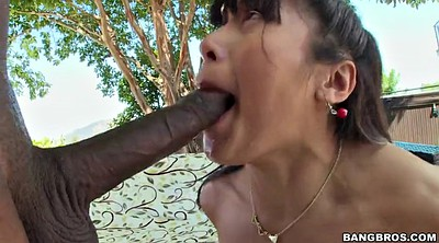 Monster cock, Gagged, Throat fucked, Asian throat, Asian black