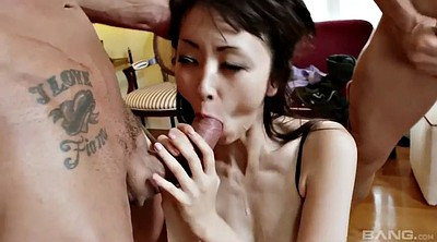 Japanese threesome, Japanese double, Swallowing, Japanese orgasm, Big japanese
