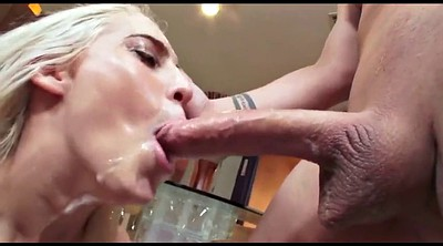 Swallows, Swallow cum, Sloppy deepthroat