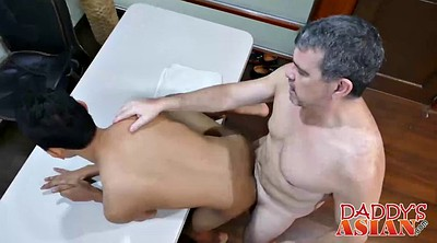 Asian, Boss, Asian old, Boss fuck, Old asian, Asian interracial
