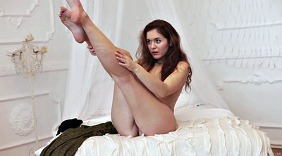 Ass solo, Spreads, Solo spreading, Solo shaved fingering, Finger her ass
