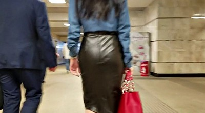 Girl, Leather, Skirt, Leather skirt, Leather girl