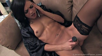 Phone, Homemade, Stockings masturbating, Phone sex
