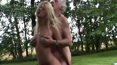 Teens, Outdoors, Young blonde, Blonde granny