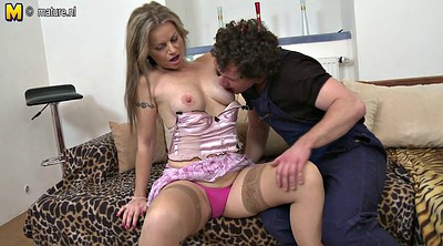 Mother son, Young amateur, Old mature