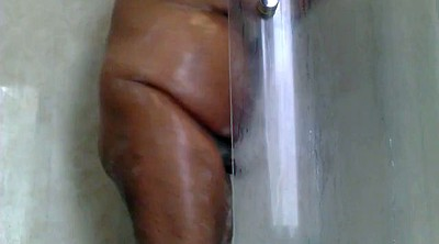 Black, Shower, Hairy bbw