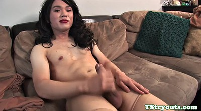 Ladyboy, Audition, Shemale solo, Asian ladyboy, Shemale casting, Auditions