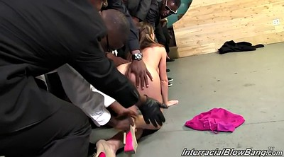Interracial gangbang, Brooklyn chase, Movie sex