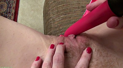 Red milf, Mature dildo