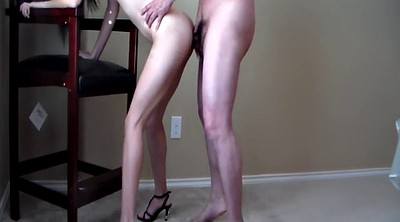 Cum swallowing, Standing, Stand, Heels fuck, Cum in