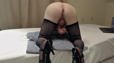 Heels, Stockings hd, Cum stocking