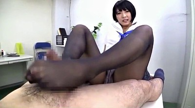 Nylon, Nylon foot, Nylon job, Foot job, Black and asian, Asian foot