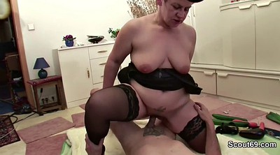 Granny threesome, German blowjobs