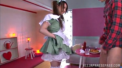 Asian handjob, Maid