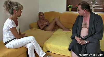 Tricked, Old mom, Into, Mom threesome, Mom dad, Mature young