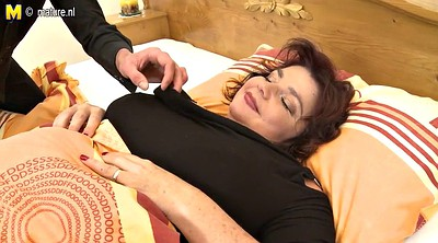 Granny, Huge cock, Breast, Mature tits, Young and old, Old mother