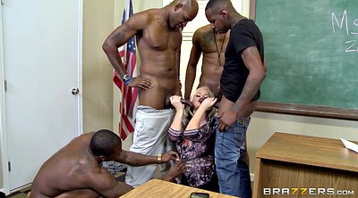 Interracial gangbang, Big black cock, Classroom, Knee, Alena croft