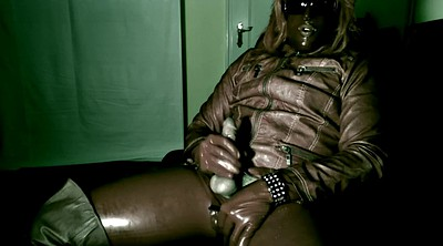 Leather, Paint, Painting, Gay latex, Cock milk, Milking cock
