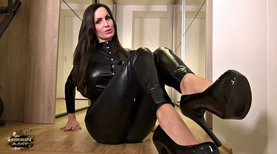 Feet, Latex, Leather, Suit, German milf