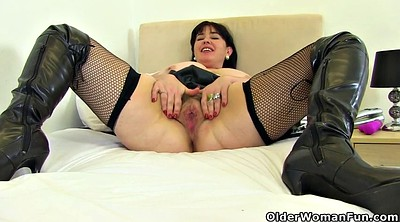 Leather, British milf