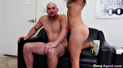 Tits, Riding dildo, Casting girl