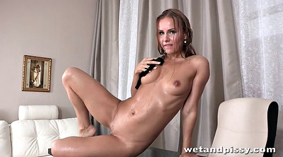 Squirting, Table, In pantyhose