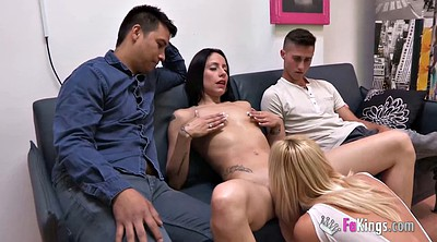 Hardcore, Couple, Two, Lesbian young, Big tits lesbian, Two couples