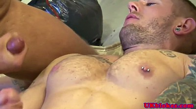 Gangbang, Muscle, British sex, He, British gay
