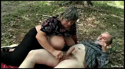Threesome, Old couple, Teen old, Outdoors, Matures, Granny couple