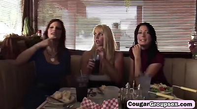 Mature group, Cougar, Foursome