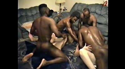 Ebony, Interracial mature, Group sex orgy
