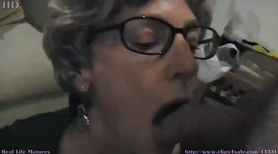 Glasses, Glass, Granny and young, Big cock cum