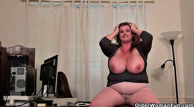 Pantyhose fetish, Milf office, Secretary