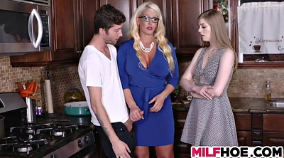 Stepdaughter, Mom threesome