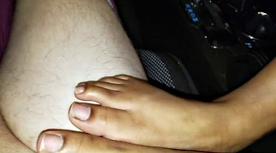Car, Orgasms, Ebony feet, Black foot