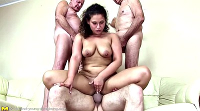 Piss, Old and young, Young milf, Mature couple, Old gangbang