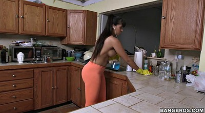 Gloves, Glove, Clean, Busty latina
