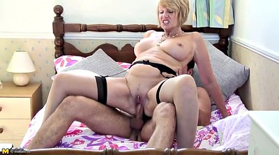 Mom, Mom and young guy, Mature fucking