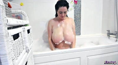 Big tits, Shower