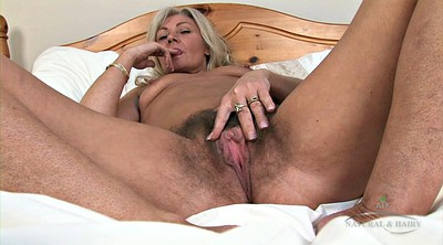 Hairy solo, Granny solo, Granny masturbation, Blonde mature
