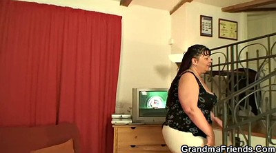 Grannies, Fat granny, Bbw threesome