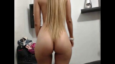 Shy, Show ass, Blond ass, Amateur strip