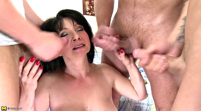 Mother, Mother son, Granny gangbang, Old son, Mature gangbang