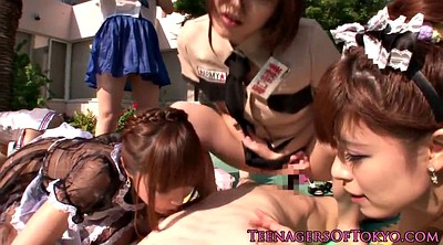 Japanese teen, Asian gangbang, Outdoor japanese, Costume