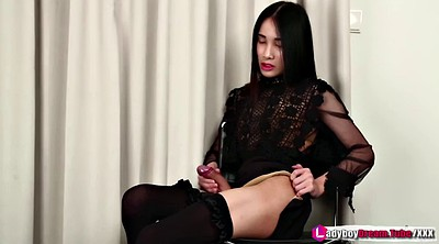 Ladyboy, Shemale solo, Tube, Asian ladyboy
