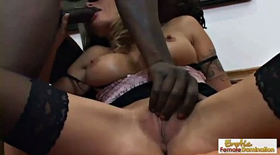 Cuckold, Interracial bdsm, Step, Black stockings, Step son, Fuck stockings