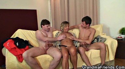Mom threesome, Granny mature
